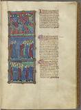 Pharaoh's army following the Israelites, Moses bearing the bones of Joseph