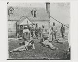 Group of contrabands at Allen's farm house near Williamsburg Road, in the vicinity of Yorkville, Virginia, May 1862
