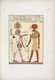 Menphtah II [Merneptah], figlio e successore di Ramses III [Ramesses II], sta dinnanzi a Phrê [Ra]: due figure …