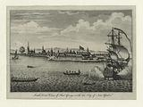 South west view of Fort George with the City of New York