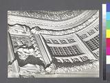 Fifth Avenue Theater interior: showing detail of proscenium arch, 1185 Broadway, Manhattan