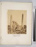 Karnak – vue des obelisques de Touthmes I et de la reine Hatason (Thebes)