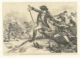 The shooting of Major Pitcairn (who had shed the first blood at Lexington) by the coloured soldier Salem