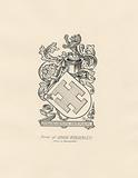 Arms of David Brearly from a bookplate