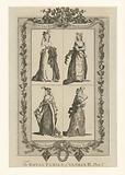 The royal family of George III: Princess Royal, Princess Augusta Sophia, Princess Elizabeth, Princess Mary