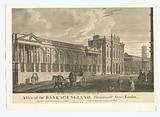 A view of the Bank of England, Threadneedle Street, London