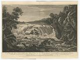 A view of the Great Cohoes Falls, on the Mohawk River, the fall about seventy feet
