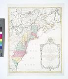 Carte nouvelle de l'Amerique angloise: contenant tout ce que les Anglois possedent sur le continent de l'Amerique …