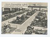 Deutsche Kriegsausstellung in Berlin, in welcher zerschossene Aeroplane, Autos und erbeutete Trophäen gezeigt werden
