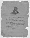 Lafayette, James Armistead – Facsimile of the Marquis de Lafayette's original certificate commending James Armistead …
