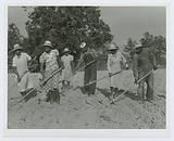 The family of Mr Leroy Dunn, chopping cotton in a rented field near White Plains, Greene County, Georgia, June 1941