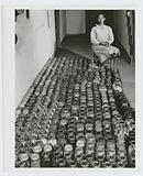 Mrs Gus Wright, Farm Security Administration client with her canned goods, Oakland community, Greene County, Georgia, …
