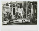 Unloading oysters from packet boat arriving at New Orleans, La