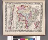 Map of Brazil, Bolivia, Paraguay, and Uruguay, Harbor of Rio Janeiro, Harbor of Bahia, Map of Chili