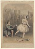 Mad'lle Auriol M'r Flexmore in the favourite pas La truandaise, in the ballet of Esmeralda, played at the Princess's …