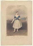 Marie Taglioni [facsimile signature] in the dance of the mazurka, in the ballet of La gitana