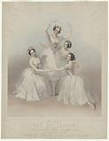 The celebrated Pas de quatre composed by Jules Perrot, as danced at Her Majesty's Theatre, July 12th 1845, by the four …