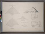 Southern and small stone pyramids of Dashhoor: view, plans, sections, and hieroglyphics