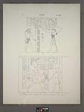 Amada, Temple de Phré, salle à droite: 1, Paroi droite, 2, Idem, paroi gauche