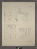 Thèbes, Karnac [Thebes, Karnak], 1, Palais de Moeris, 2, Premier propylée, porte de granit, 3, Cour du palais