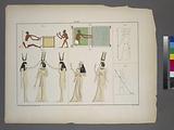 1. Zwei Netzflechter, nach einem Gemälde in den Gräbern von Beni-Hassan, 2, Ein Weber, ebendaselbst.