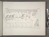 Darstellungen und Inschriften aus dem Grabe des Thebanischen Priesters Neferhotep, ausgenommen Taf