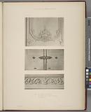 1. – Détail du lambris du vestibule, 2, – détail des portes de la salle a manger, 3, – détail des rinceaux.