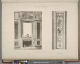Bibliothèque de Louis XVI, cheminée, panneau d'angle