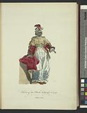 Habit of the black sultaness in 1749, Sultane noire