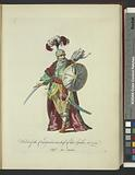 Habit of the commander in chief of the Spahis, in 1749, Chef des Spahis