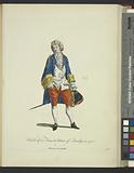 Habit of a French man of quality in 1700, Francois de qualité