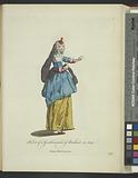 Habit of a gentlewoman of Brabant in 1640, Dame Brabançonne
