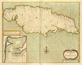 The island of JAMAICA, A draft of the harbor of Port Royall and all ye kees: Latt 17:50