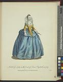 Habit of a lady in the court of Queen Elizabeth in 1559, Habit d'une dame de la cour de la Reine Elizabeth