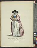 Habit of a citizen's wife of London in 1640, Une bourgeoise de Londres
