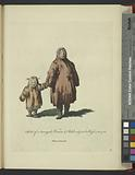 Habit of a Samoyede woman and child subject to Russia in 1768, Femme Samoyèd