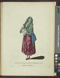 Habit of a citizen's wife of Bologna in 1768, Bourgeoise de Bologne