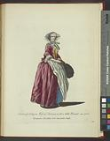 Habit of a citizen's wife in Florence, with a little bonnet, in 1768, Bourgeoise Florentine avec une petite coeffe