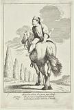 Cacasenno Riding a Horse Backwards