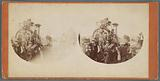 Group of men standing next to engine of the train, Steubenville, Ohio