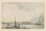 An original sketch of the Burning of Charlestown & Battle of Bunker Hill