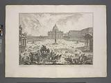 View of Saint Peter's Basilica in Piazza in the Vatican