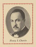 Image of Henry I Chanin from a page in the souvenir program for Chanin's Royale Theatre for its dedication
