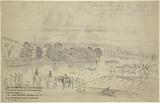 Retreat of Gen Lee's army, July 13th, 1863, crossing the Potomac above Williamsport, Md