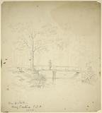 On picket, (Picket on bridge over creek)