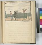 Viewing the coasts by the Chart [One person reading the map, one looking through the telescope and the other watching …]