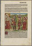 Double-sided page [fol CLXXVIII, mals kommen und bettlich seyner früntschaffe… (Massinissa's love for Queen Sophonisba])