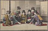 Girls playing Uta-garuta