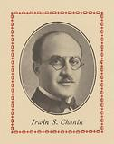 Image of Irwin S Chanin from a page in the souvenir program for Chanin's Royale Theatre for its dedication