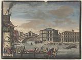 The bridge and market of the Rialto, Venice